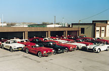 Classic Corvettes waiting for service and restoration